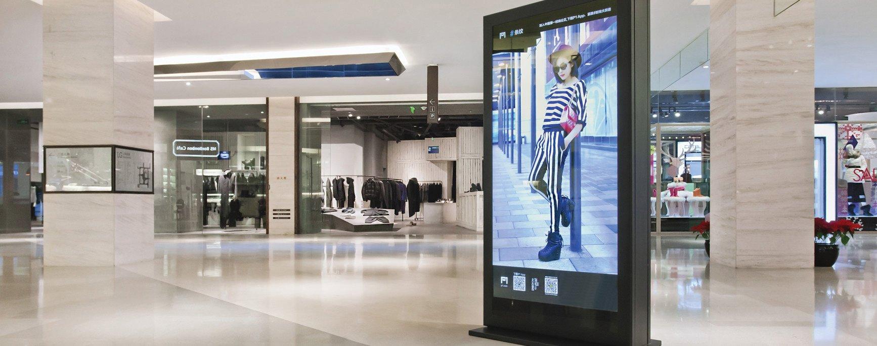 schermi pubblicitari centri commerciali